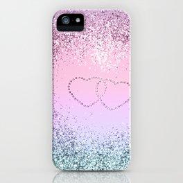 Unicorn Girls Glitter Hearts #2 #shiny #pastel #decor #art #society6 iPhone Case