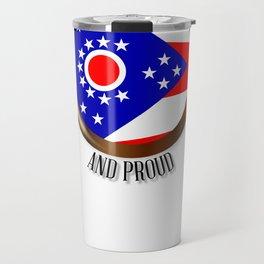 Ohio Proud Flag Button Travel Mug