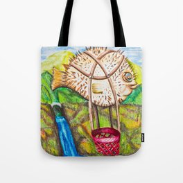 The Blowfish Adventure - Mazuir Ross Tote Bag