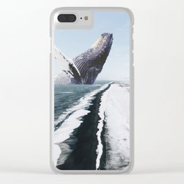 The Humpback Whale-Black Sand Beach in Iceland Clear iPhone Case