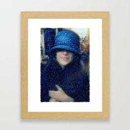 The Blue Cloche Hat Framed Art Print