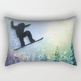The Snowboarder: Air Rectangular Pillow