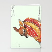 fawn Stationery Cards featuring fawn by maggie's forest