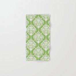 Green Damask Hand & Bath Towel