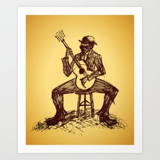 The Blues Man Art Print