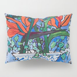 Birds of Paradise in Blue After Matisse Pillow Sham