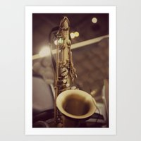 saxophone Art Prints featuring Saxophone by KimberosePhotography