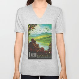 NASA Visions of the Future - Earth: Your Oasis in Space Unisex V-Neck