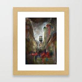 Lisboa Santa Justa Framed Art Print