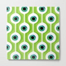 Eye Pod Green Metal Print