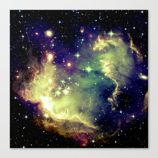 Nebula Galaxy (deep pastels) Canvas Print
