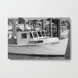 At The Harbor Metal Print