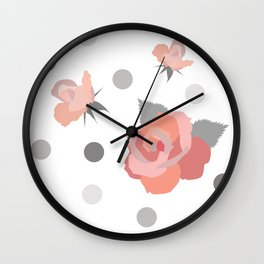Tickle Me Rose Wall Clock