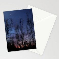 The line between night and day Stationery Cards