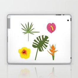 Jungle / Tropical Pattern in white Laptop & iPad Skin