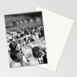 Members of the Kennedy Space Center government-industry team rise from their consoles within the Lau Stationery Cards