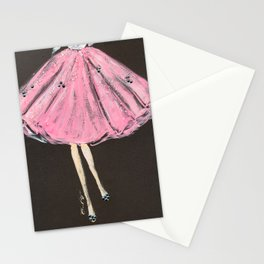 Jolie Pink Fashion Illustration Stationery Cards