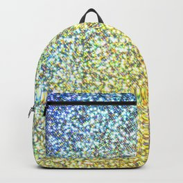 Turquoise & Gold Glitter Ombre Backpack