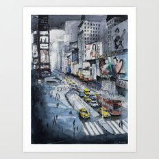 Time square - New York City Art Print