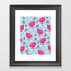 Party Flamingos Framed Art Print