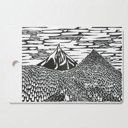 Mountain Block Print Cutting Board