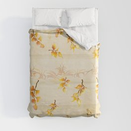 Autumn Leaves in Watercolor Duvet Cover