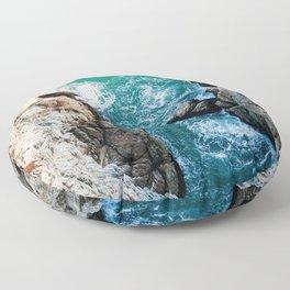 Ocean falaise 5 Floor Pillow
