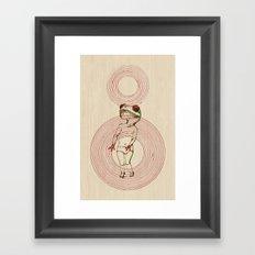 BABY FROG Framed Art Print