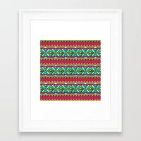 aztec Framed Art Prints featuring Aztec by Shelly Bremmer