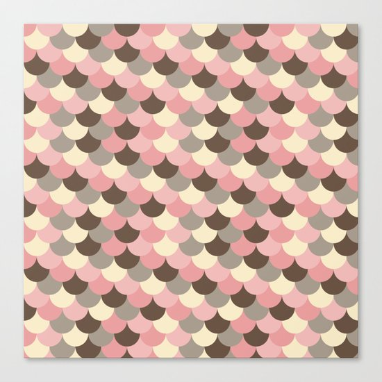 Strawberry Mouse Fish Scale Pattern Canvas Print