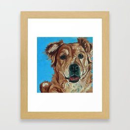 Cody the Golden Labrador Mix Dog Portrait Framed Art Print