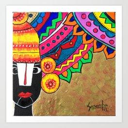 Balaji- abstract art by saneesha Art Print