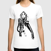 lindsay lohan T-shirts featuring lindsay lohan illustration by hello Malcolm