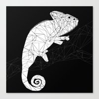 chameleon Canvas Prints featuring CHAMELEON by ARCHIGRAF