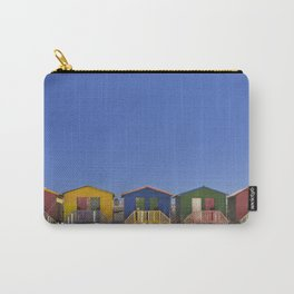 Colourful beach huts on the beach in Muizenberg, South Africa Carry-All Pouch