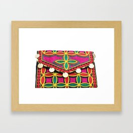 Exclusive Boho Hippy Coin Clutch Purse Framed Art Print