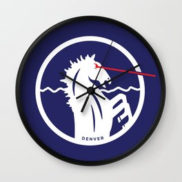 Denver Laser Bronco Wall Clock