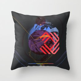 Chaotic Polygon Ensemble Throw Pillow