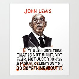 John Lewis Tribute Art Print