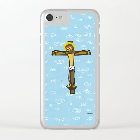 Jesus smiling Clear iPhone Case