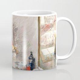 William Merritt Chase - Self Portrait In 4th Avenue Studio - Digital Remastered Edition Coffee Mug