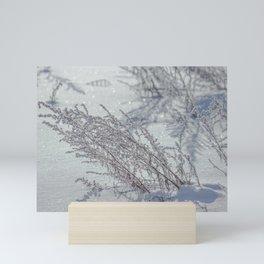 Winter grass Mini Art Print