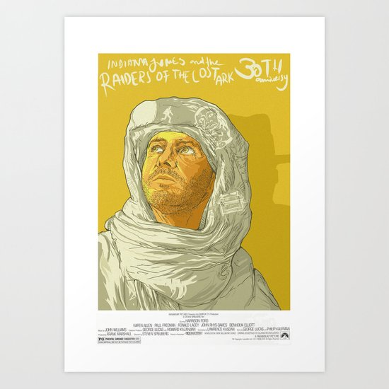 Raiders of the Lost Ark 30th Anniversary Poster Art Print