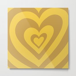 Love Power - Mustard Metal Print