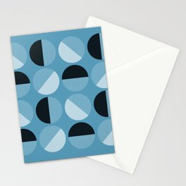 circle circle dot dot in sky blue Stationery Cards