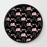 heroes Wall Clocks featuring Heroes by Hipsterdirtbag