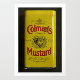 Colman's Mustard Art Print