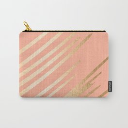 Sweet Life Swish Peach Coral + Orange Sherbet Carry-All Pouch
