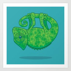 Magical Chameleon Art Print