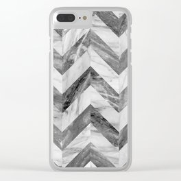 Marble Chevron Clear iPhone Case